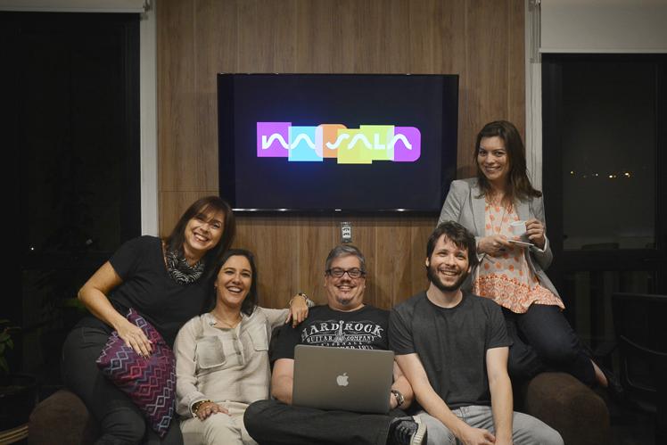 Os sócios do NaSala, Claudia Vaciloto, Bianca Sabatino, Andre Rocco, Rodrigo Franco e Thaysa Azevedo