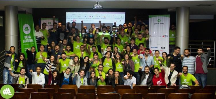 Alunos da primeira turma da Gama Academy, em Belo Horizonte