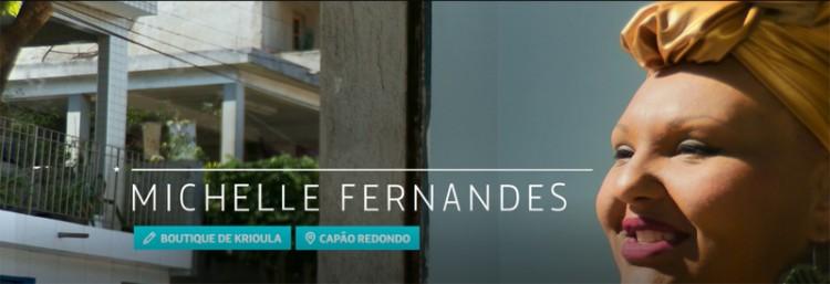 Michele Fernandes, criadora da loja virtual Boutique de Krioula, gravou depoimento para o Deco (Reprodução)