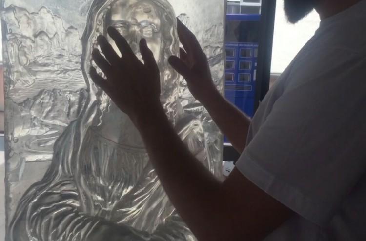Escultura da Mona Lisa feita em impressora 3D pela empresa Tato (divulgação)