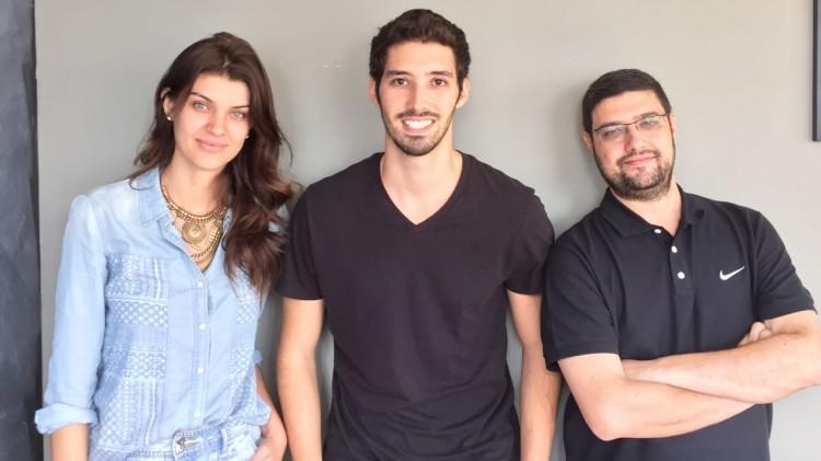Sócios do Job for Model, Juliane Rudolph, Filipi Russo (ao centro) e Roberto Barros (divulgação)